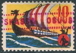 Finland 10 Mk Postal Savings Revenue VIKING SHIP Drakkar Wikinger Schiff Boat Bateau Sparmarke Timbre D'épargne Vignette - Bateaux
