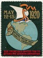 USA 1920 National Foreign Trade Council's Convention VIKING SHIP Drakkar Wikinger Schiff Vignette Poster Reklamemarke - Ships