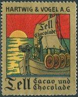 Germany VIKING SHIP Drakkar Wikinger-Schiff Boat Boot Poster Vignette Reklamemarke Hartwig & Vogel Cacao Und Chocolade - Ships