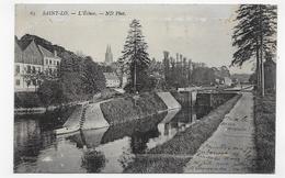 (RECTO / VERSO) SAINT LO EN 1910 - N° 63 - L' ECLUSE - BEAU CACHET - CPA VOYAGEE - Saint Lo