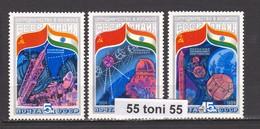 1984 Space Interkosmos  Indien/USSR (5371/73) 3v.-MNH USSR - 1923-1991 URSS