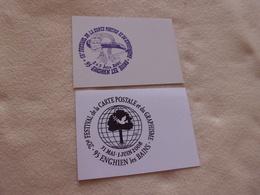 LOT DE 2 CARTES FESTICART 2001 ET 2008 ...SIGNE PORCHEROT ET VUITTOM - Bourses & Salons De Collections