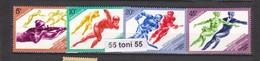 1984 Sport Olympic Winter Games Sarajevo  4v.-MNH  USSR - 1923-1991 URSS