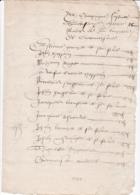 SARTHE CHANGE EXTRAIT DES ARCHIVES DE LA PAROISSE 1577 - Documents Historiques