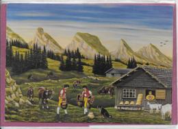 Originalt Gemalt Von Willi Forrer Bauernmalervon Widhaus - Liechtenstein