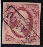 1852 Koning Willem III 10 Cent Rood NVPH 2 - Period 1852-1890 (Willem III)