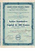 28-ETUDES FISCALES DE FRANCE. TERMINIERS & BORDEAUX - Hist. Wertpapiere - Nonvaleurs