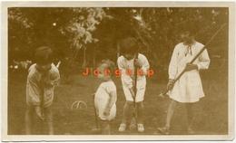 Photo Children Playing Croquet Crocket Tigre Argentina 1928 - Deportes