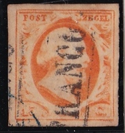 1852 Koning Willem III 15 Cent Oranje NVPH 3 - 1852-1890 (Wilhelm III.)