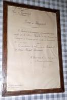 Militaria Brevet Vélocipédiste 1906 Armée Du Rhin Remiremont Lorraine Vosges Vélocipede Humbert - Documents Historiques