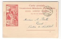 15306 - Pour COUVET - Postwaardestukken
