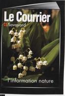 """Carte Postale Autocollante Journal """"Le Courrier Savoyard"""" (Haute-Savoie) - French"""
