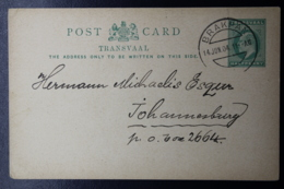 Transvaal Card BRAKPAN -> JOHANNESBURG  14-6-1904 - Sud Africa (...-1961)