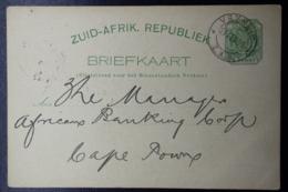 Transvaal :  Postcard VRYHEID VRIJHEID -> CAPE TOWN  21-2-1898 - Transvaal (1870-1909)