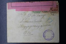 BOER WAR  2X CENSOR STRIP + CANCEL  JEPPESTOWN -> POW CAMP SIMONSTAD 5-5-1900 OPENED UNDER MARTIAL LAW - Sud Africa (...-1961)