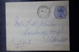 Orange Free State BOER WAR PERIOD Cover SPRINGFONTEIN -> CAMBRIDGE UK Arr. 6-5-1900 - Sud Africa (...-1961)