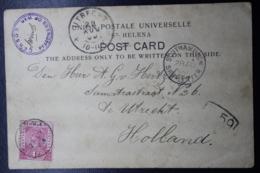 BOER WAR PERIOD Postcard From POW CAmp St. Helena To Utrecht Holland 27-7-1900 - Zuid-Afrika (...-1961)