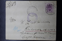 BOER WAR PERIOD Cover From WEPENER -> POW Camp Greenpoint Censor Cancel  8-7-1900 - África Del Sur (...-1961)