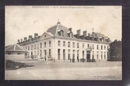CPA 78 - RAMBOUILLET - Ecole Militaire Préparatoire D'Infanterie - TB PLAN Etablissement + Façade Petite Animation 1904 - Rambouillet