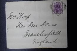 BOER WAR PERIOD  Cover BURGERSDORP -> MACCLESFIELD UK, 15-9-1901 - South Africa (...-1961)