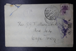 BOER WAR PERIOD  Cover ZASTRON -> CAPETOWN Opened Under Martial Law+ Cancel - África Del Sur (...-1961)