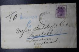 BOER WAR PERIOD  Cover HARRISON -> LONDON 1901 - África Del Sur (...-1961)