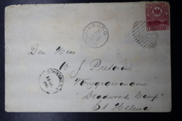 BOER WAR PERIOD Censored Prisoner Of War Cover MARAISDORP 204 CANCEL-> DEADWOOD PRISONER OF WAR CAMP ST HELENA 28-9-1900 - África Del Sur (...-1961)