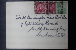 COVER WELLINGTON -> LONDON VIA GPO JOHANNESBURG 1 P PAIR 16-1-1899 - Südafrika (...-1961)