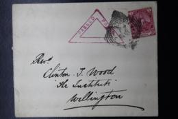 BOER WAR PERIOD COVER VICTORIA WEST -> WELLINGTON CENSOR CANCEL 20-2-1902 - África Del Sur (...-1961)