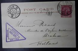 BOER WAR PERIOD POSTCARD GPO CAPE TOWN -> ARNHEM HOLLAND NICE CENSOR CANCEL 11-12-1901 - Südafrika (...-1961)