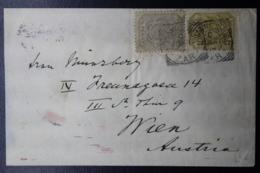 TRANSVAAL ZAR COVER JOHANNESBURG -> VIENNA AUSTRIA 30-3-1896  MIXED FRANKING - Zuid-Afrika (...-1961)