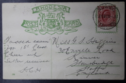 POSTCARD RHODESIA WITBANK -> UK  APRIL 1904  VICTORIA FALLS - Zuid-Afrika (...-1961)