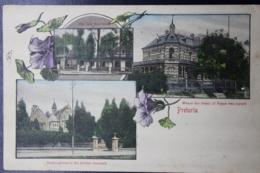 UNION POSTCARD PRETORIA -> WOODSTOCK -> CAPE TOWN 5-3-1908 - Zuid-Afrika (...-1961)