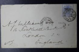 ORANGE RIVER COLONY COVER LADYBRAND -> LONDON  26-7-1895 VVIA CAPE TOWN  SG 67 - Südafrika (...-1961)