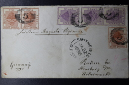 ORANGE FREE STATE COVER BETHLEHEM -> FRANKFURT GERMANY 13-8-1899 STRIP OF 3  SG 68 - South Africa (...-1961)