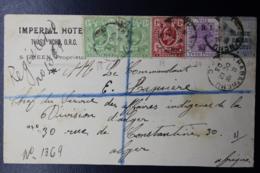 ORANGE RIVER COLONY REGISTERED COVER THABA NCHU -> ALGIERS RARE DEST 4 COLOR FRANKING - África Del Sur (...-1961)