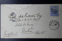 ORANGE RIVER COLONY  COVER BOSHOF -> ELSTREE UK - Stato Libero Dell'Orange (1868-1909)