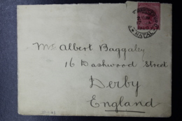 NATAL COVER PIETERMARITZBURG -> DERBY UK, 17-1-1903 - Sud Africa (...-1961)