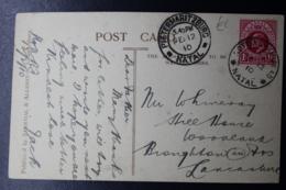 NATAL POSTCARD NOTTINGHAM ROAD NATAL -> BROUGHTON UK  12-2-1910 DEVIL''S HOEK - Natal (1857-1909)