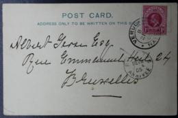 NATAL POSTCARD VERULAM -> BRUSSELS 1905  Rivercrossing - Natal (1857-1909)