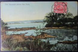 NATAL INTERPROVINCIAL PERIOD RITZ -> ANTWERP 30-9-1913  THE ZAMBESI RIVER ABOVE THE FALLS - Südafrika (...-1961)