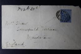 CAPE OF GOOD HOPE COVER BONC NR 277  -> SALT RIVER -> LONDON 10 OCT 1888 - África Del Sur (...-1961)