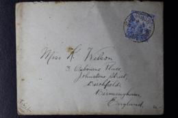 CAPE OF GOOD HOPE COVER ST GEORGES CAPETOWN AP 27 -> BIRMINGHAM 27-4-1898 - África Del Sur (...-1961)