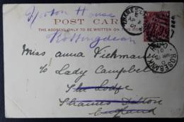 CAPE OF GOOD HOPE POSTCARD ROSEBANK -> THAMES DITTON 13-3-1901 - África Del Sur (...-1961)