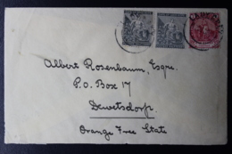 CAPE OF GOOD HOPE COVER LADYGREY DEWETSDORP MIXED FRANKING 12-12-1902 - Südafrika (...-1961)