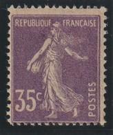 YT 142d ** 35c Violet Semeuse Type 1, Papier GC - 1906-38 Sower - Cameo