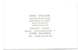 Visitekaartje - Carte Visite - Eric Cnudde - Wakken - Cartes De Visite