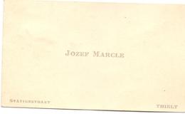 Visitekaartje - Carte Visite - Jozef Marcle - Tielt - Visitenkarten