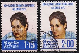 CEYLON SRI LANKA [1976] MiNr 0460-61 ( O/used ) - Sri Lanka (Ceylan) (1948-...)