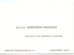 Visitekaartje - Carte Visite - Etienne Verhellen - Bauwens - Mariakerke Gent - Cartes De Visite